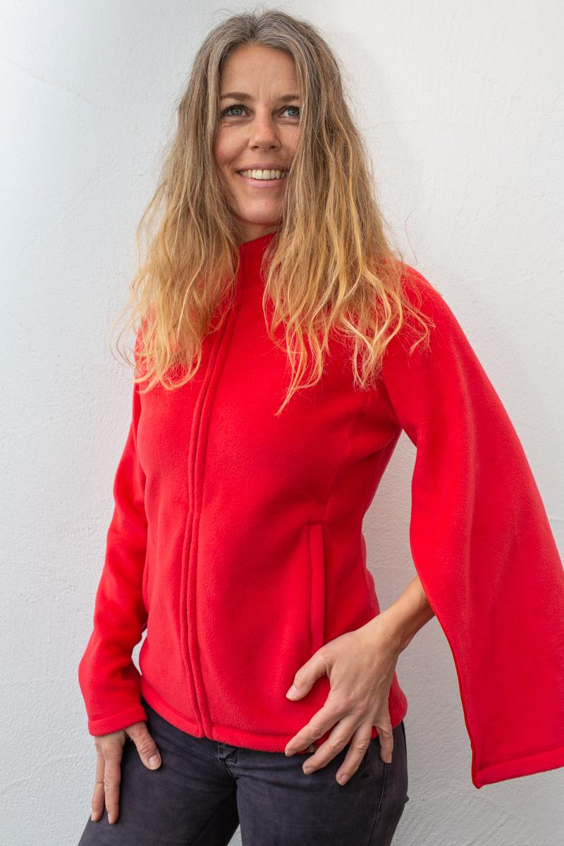 rot-Damenfleece-damenjacke-für-dialysepatienten-mit-individuellem-reißverschluss-diazipp-dialysebekleidung