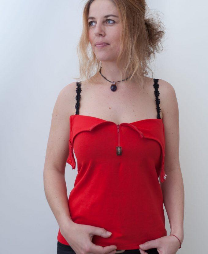 rot-Damen-Katheterhemd-diazipp-2
