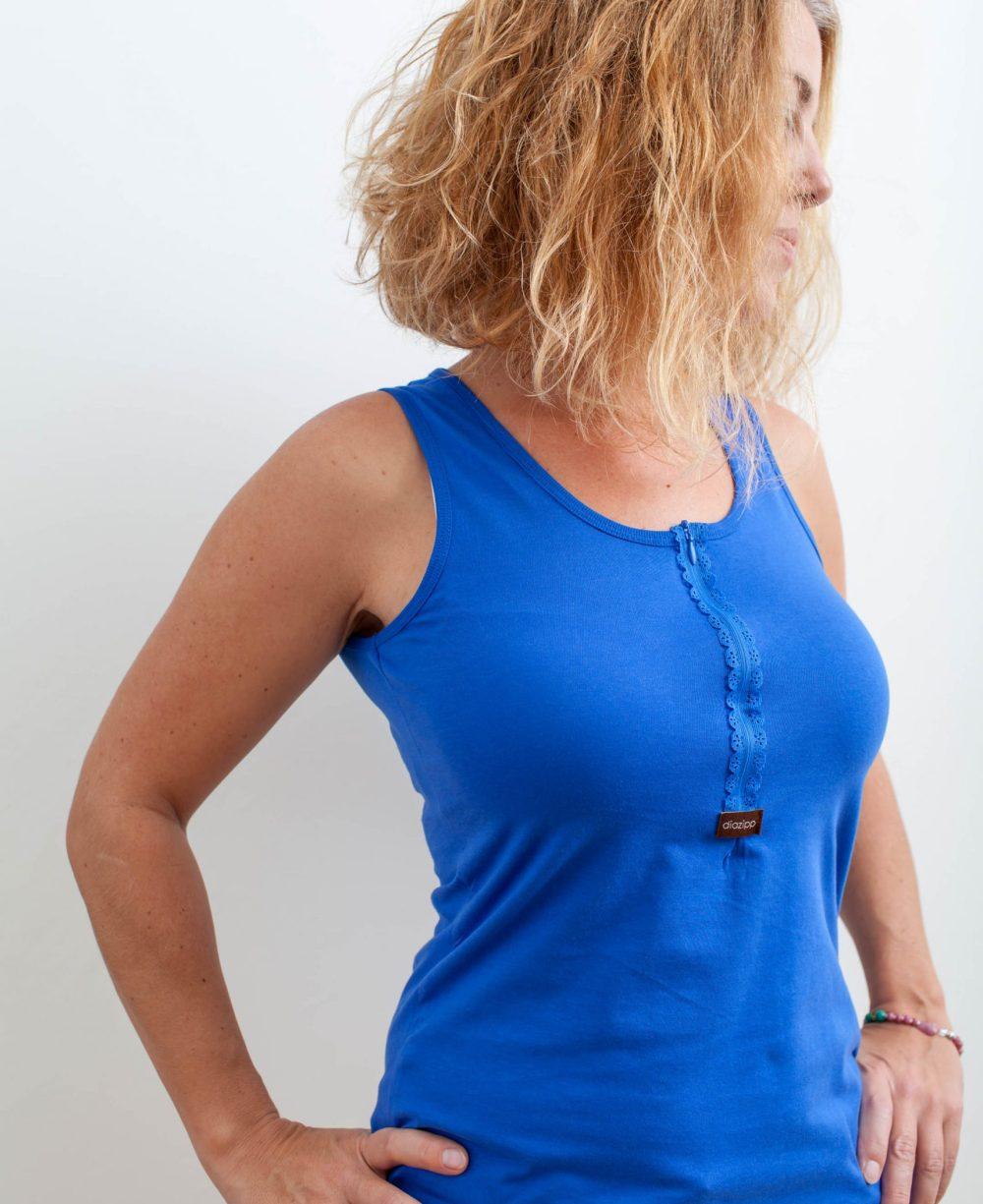 blau-Damen-Katheterhemd-diazipp