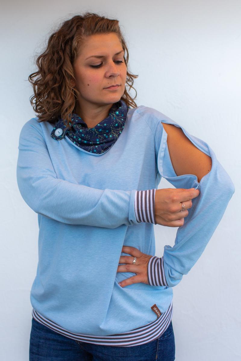 blau-damen-pullover-für-dialysepatienten-diazipp-8