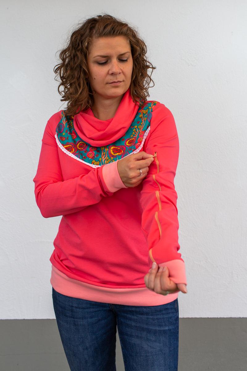 rosa-damen-pullover-für-dialysepatienten-diazipp