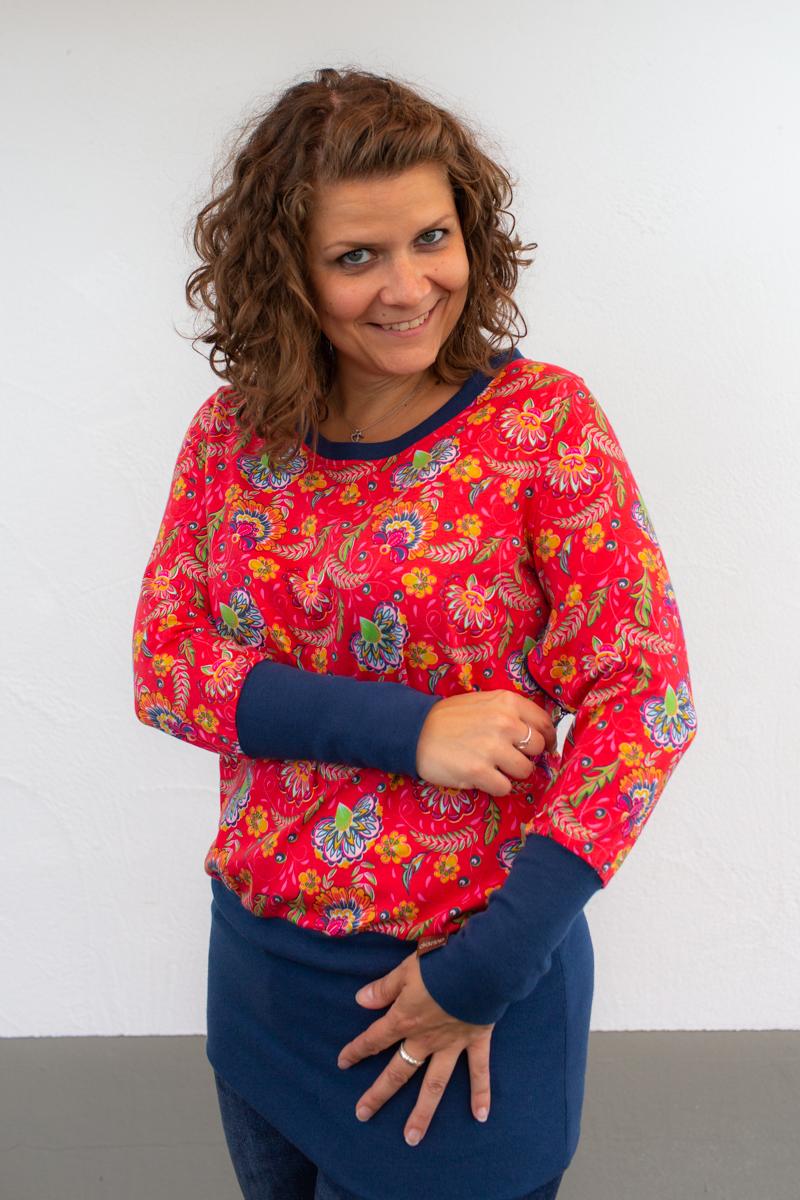 rot-blau-damen-pullover-für-dialysepatienten-diazipp