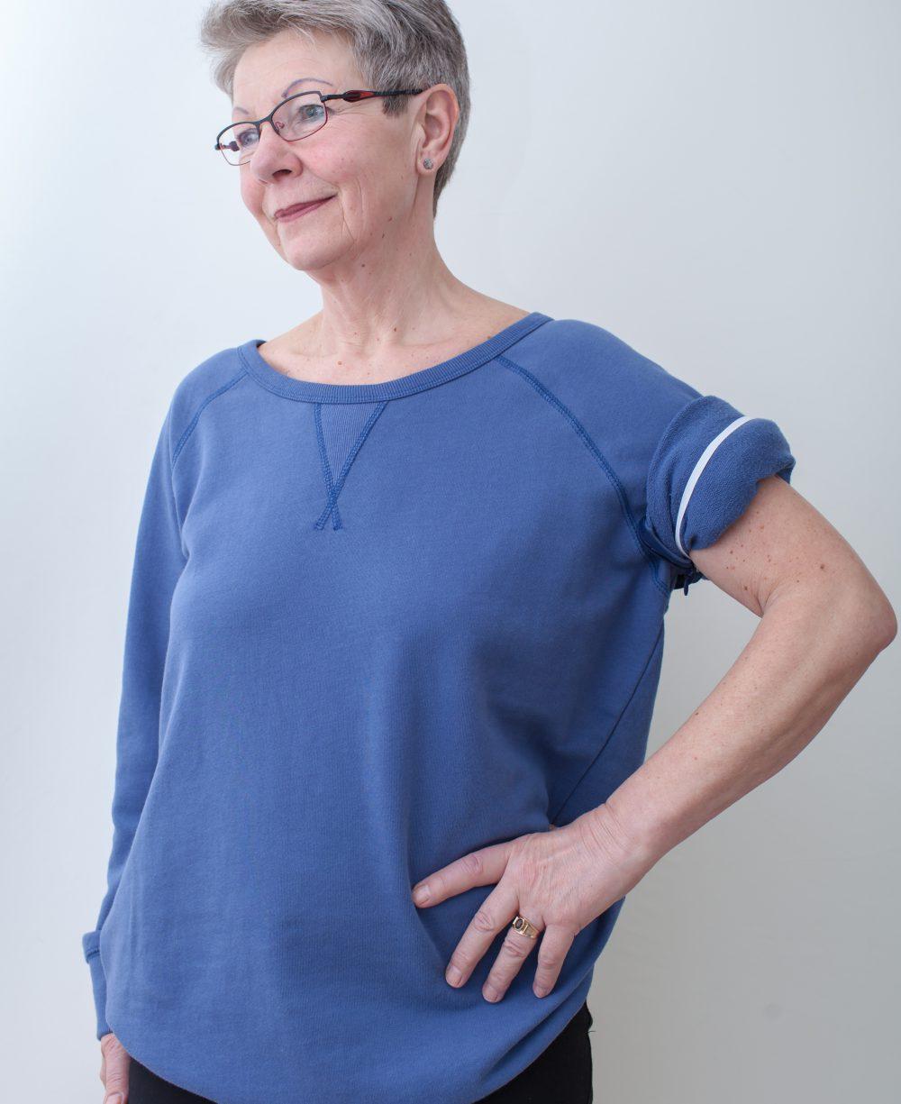 blau-damen-pullover-für-dialysepatienten-mit-individuellem-reißverschluss-diazipp