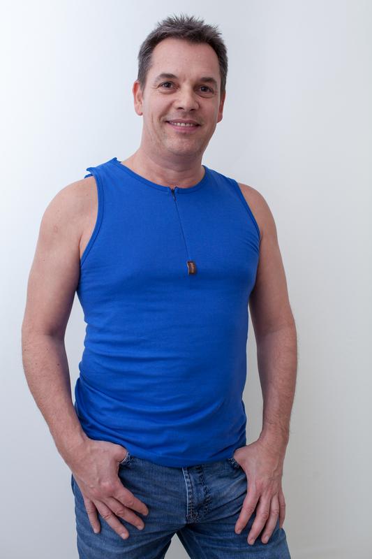 blau-herren-Kathteterhemd-für-dialysepatienten-diazipp