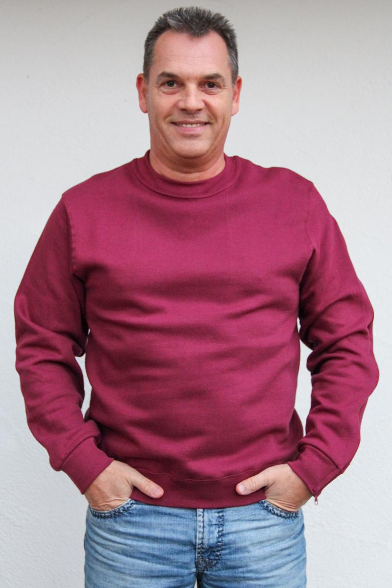weinrot-Herren-pullover-für-dialysepatienten-mit-individuellem-reißverschluss-diazipp-dialysebekleidung