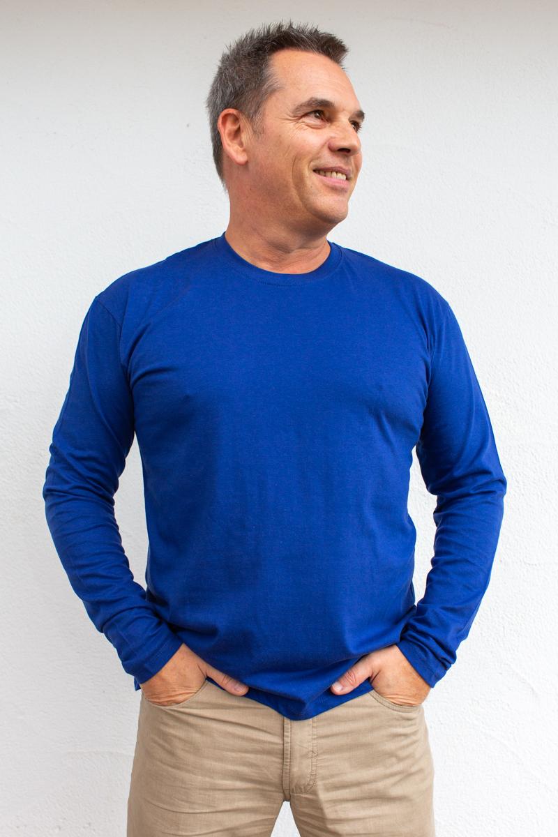 marineblau-Herren-Langarmshirt-für-Dialysepatienten-mit-individuellem- Reißverschluss-Diazipp-Dialyse-Bekleidung