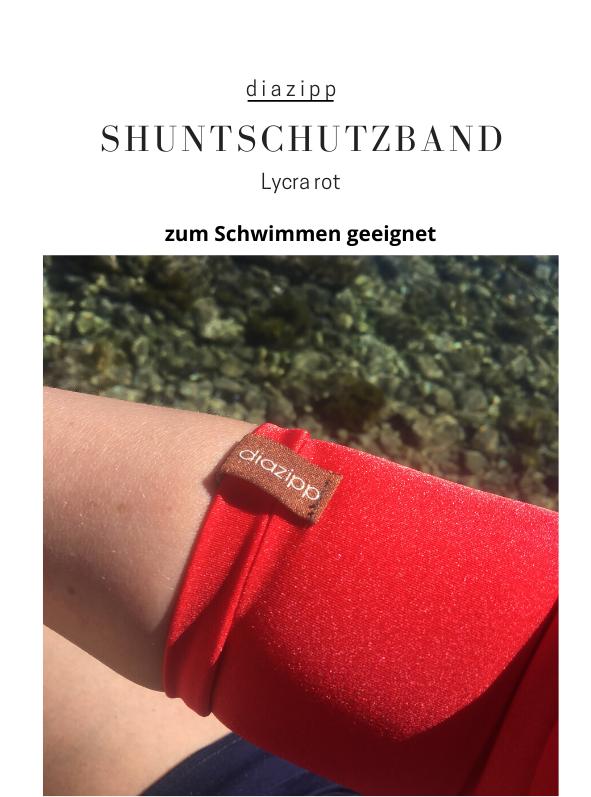 rot-Lycra-damen-Shuntschutzband-für-dialysepatienten-diazipp