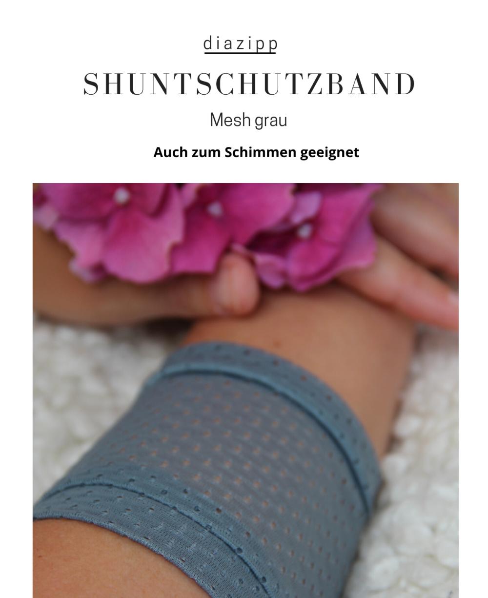 grau-damen-Mesh-Shuntschutzband-für-dialysepatienten-diazipp
