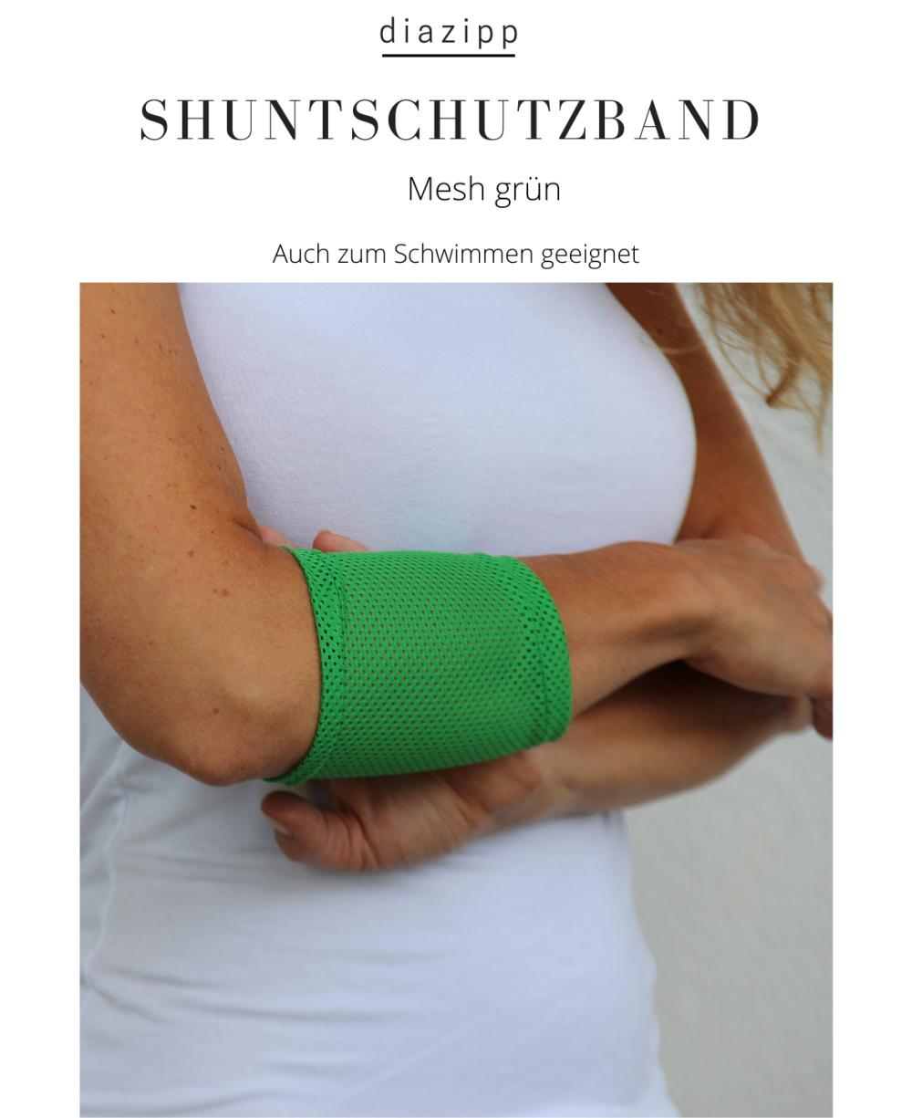 grün-Shuntband-Mesh-für-Dialysepatienten-Diazipp-Dialyse-Bekleidung