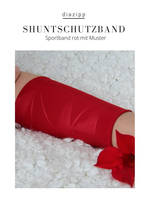 rot-damen-Sportband-für-dialysepatienten-diazipp-dialysebekleidung