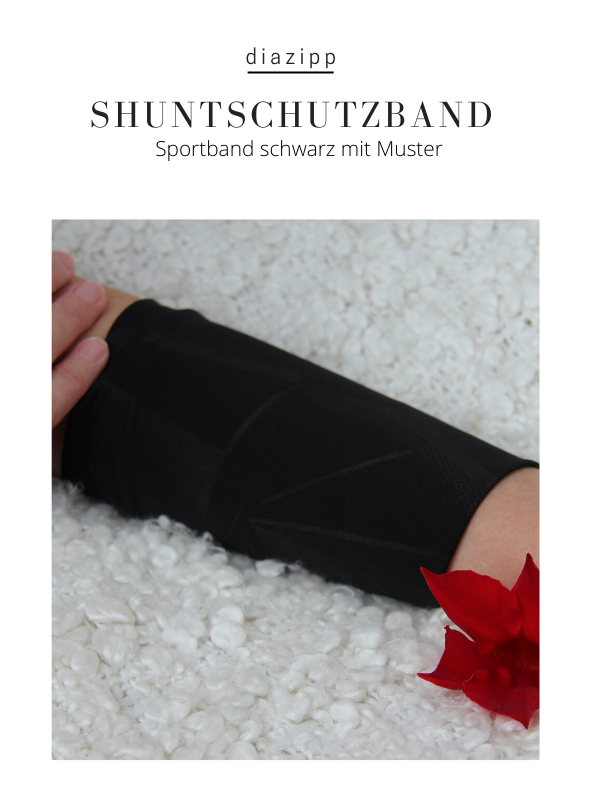 schwarz-damen-Shuntband-für-dialysepatienten-diazipp-dialysebekleidung-dialyse-Infusion