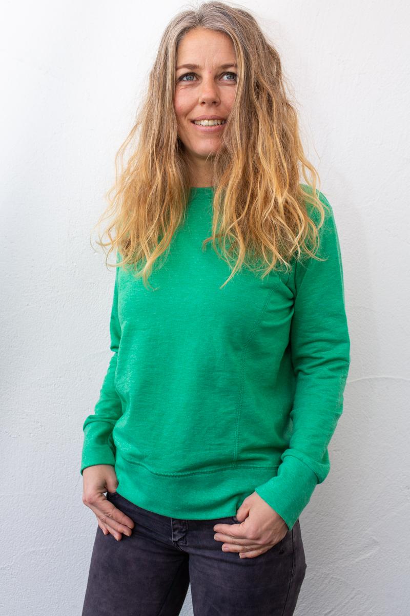 grün-damen-Pullover-für-dialysepatienten-mit-individuellem-reißverschluss-diazipp-dialyse bekleidung