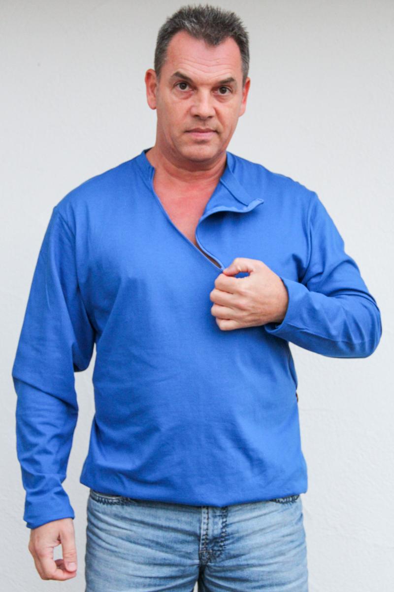 blau-herren-pullover-für-dialysepatienten-mit-individuellem-reißverschluss-diazipp-dialysebekleidung-für-Katheter-5