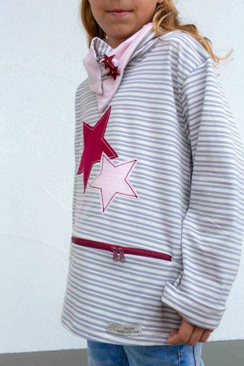 rot-grau-rosa-Sternschnuppe-kids-unterhemd-für-dialysepatienten-mit-individuellem-reißverschluss-diazipp-dialysebekleidung-made-with-love