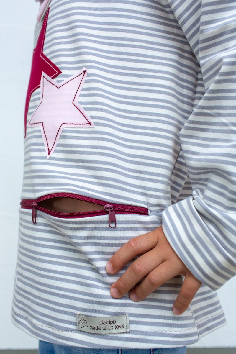 rot-blau-Sternschnuppe-kids-unterhemd-für-dialysepatienten-mit-individuellem-reißverschluss-diazipp-dialysebekleidung-made-with-love