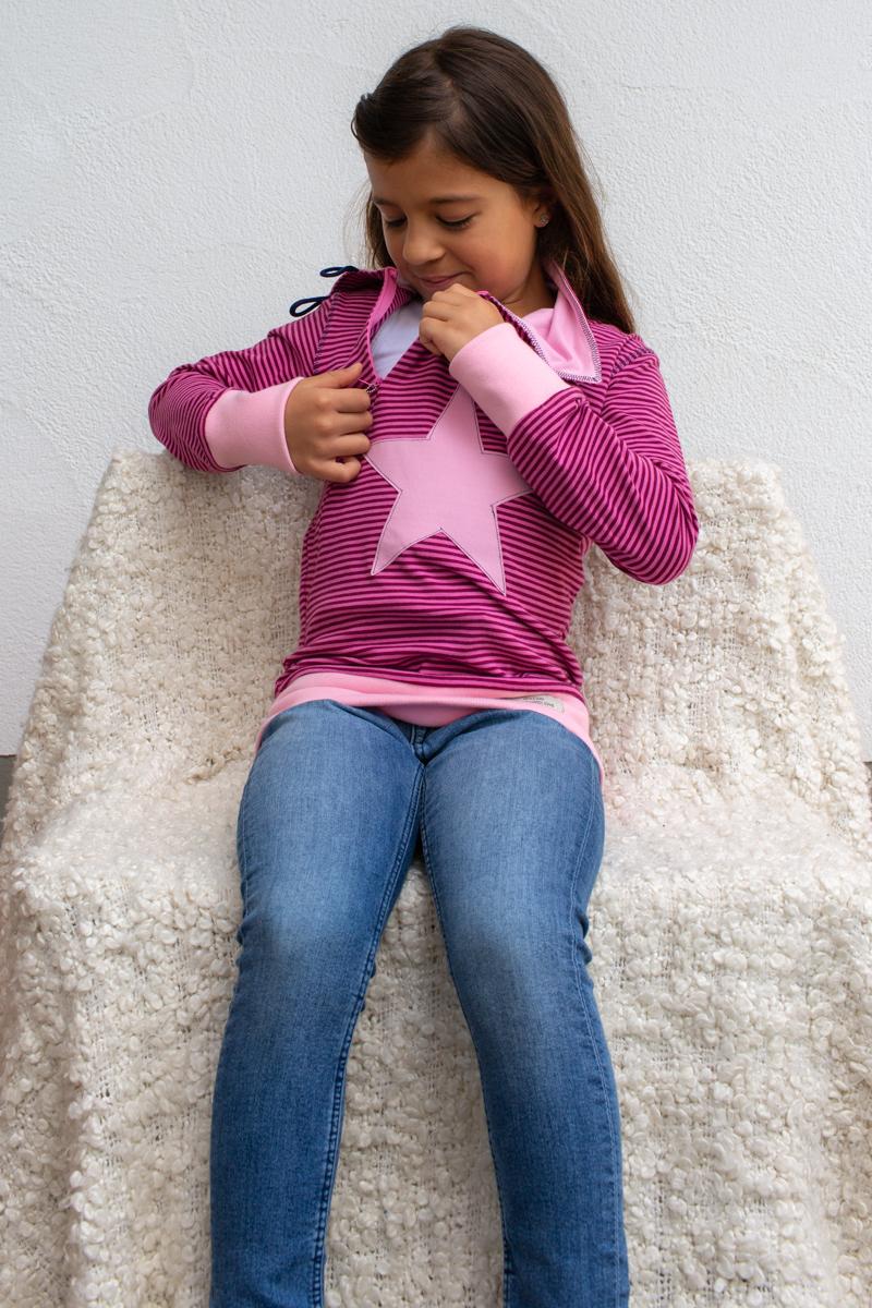 rosa-Sternschnuppe-kids-unterhemd-für-dialysepatienten-mit-individuellem-reißverschluss-diazipp-dialysebekleidung-made-with-love