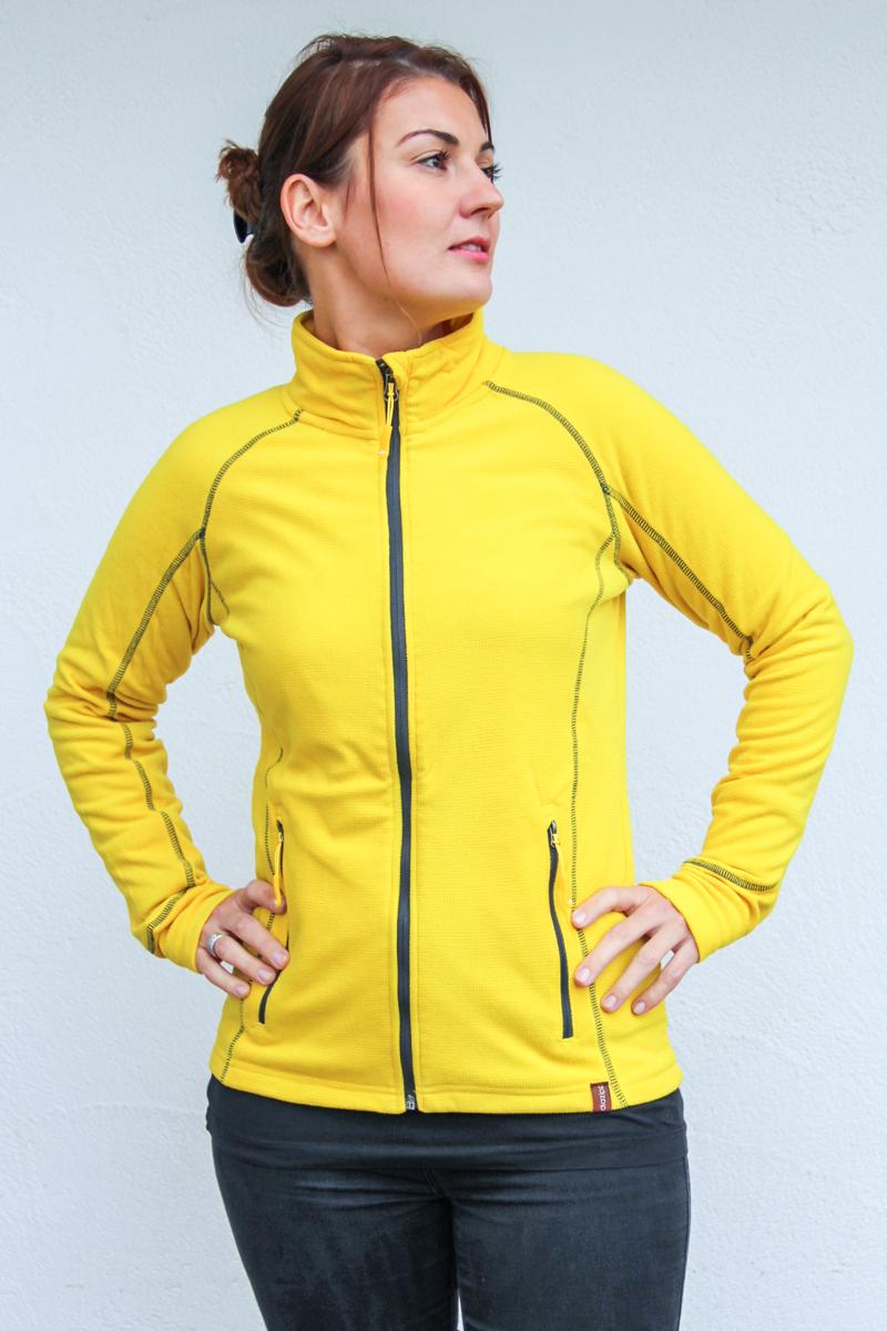gelb-Damen-Jacke-für-Dialysepatienten-mit-individuellem-Reißverschluss-Diazipp-Dialyse-Bekleidung-Dialyse-Infusin