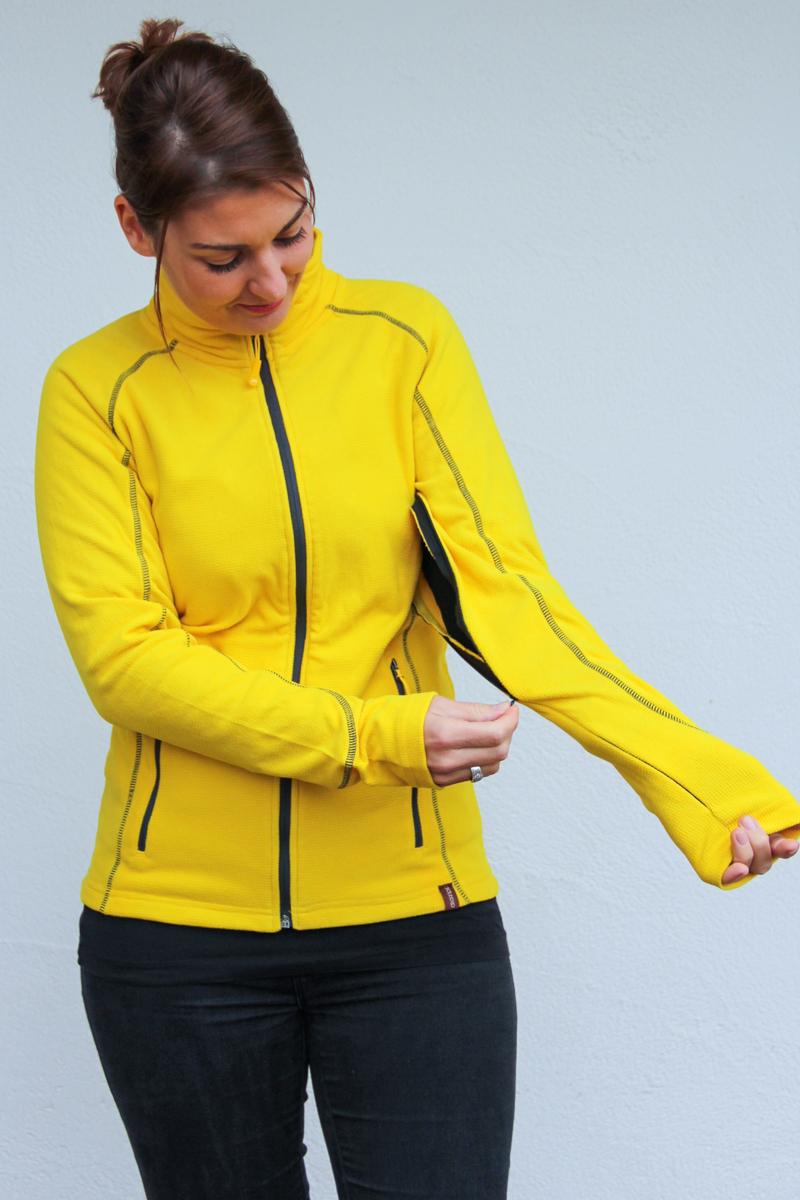 gelb-Damen-Jacke-für-Dialysepatienten-mit-individuellem-Reißverschluss-Diazipp-Dialyse-Bekleidung